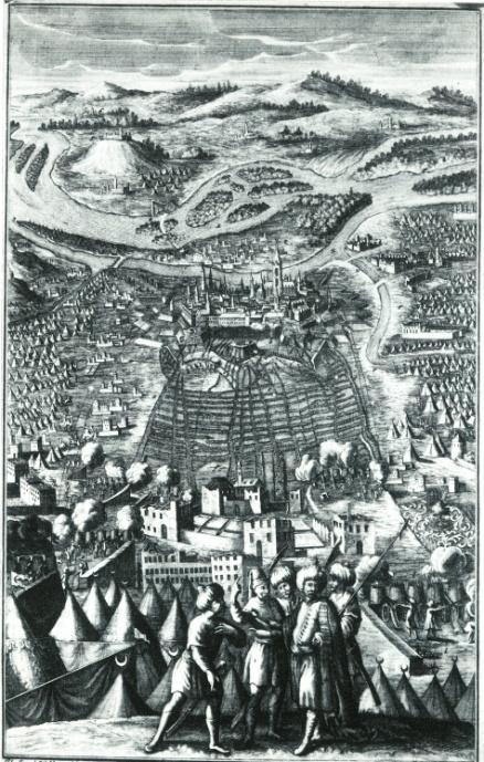 Die Belagerung (Kupferstich von Jacob Mueller nach J.J. Waldmann)