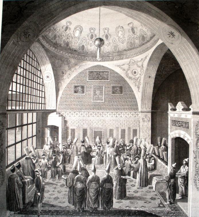 Diner europäischer Minister beim Großwesir, Istanbul