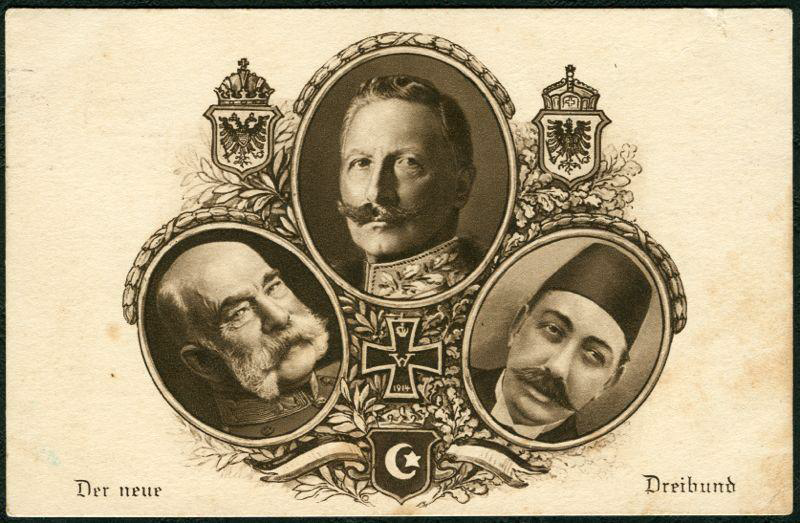 Zahllose Postkarten wie diese propagandierten das Bündnis Österreich-Deutschland-Türkei