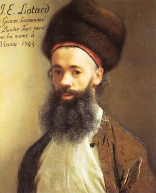 Selbstportrait von Jean-Etienne Liotard, der fünf Jahre in Konstantinopel gelebt hatte.