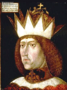 Kaiser Friedrich III. mit dem Erzherzogshut. Tafelbild, ca 1460 gemalt, Chorherrenstift Vorau, Steiermark