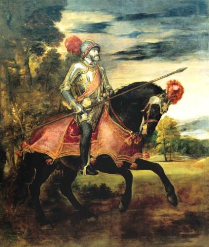 Tizian malte Karl V. nach dem Vorbild des bekannten Reiterstandbild von Marc Aurel